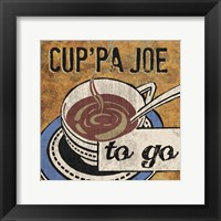 Cup'Pa Joe Framed Print