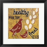 Healthy Poultry Framed Print
