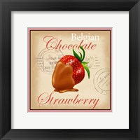 Framed Belgian Chocolate Strawberry