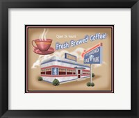 Framed Blue Diamond Diner