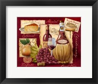 Framed Wine and Cheese