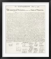 Framed Constitution of the United States