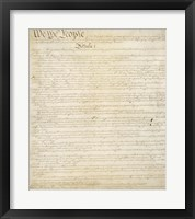 Framed Constitution of the United States I