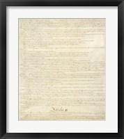 Framed Constitution of the United States II