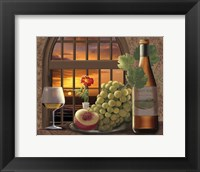 Pinot Noir At Sunset Framed Print