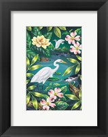 Framed River Egret