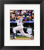 Framed Michael Cuddyer 2014 Batting Action