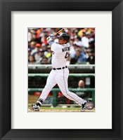 Framed Victor Martinez 2014 batting