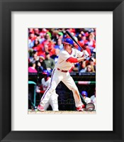 Framed Chase Utley 2014 Action