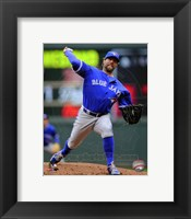 Framed R.A. Dickey 2014 Action