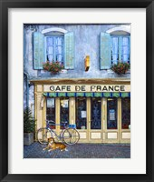 Framed Cafe De France