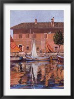 Framed Sailboats On The Canal