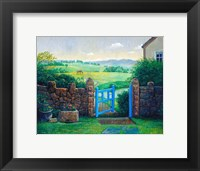 Framed Blue Gate