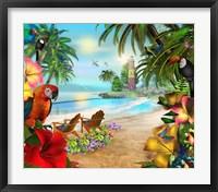 Framed Island Of Palms