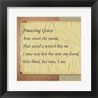 Framed Amazing Grace Parchment