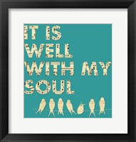 Framed It Is Well With My Soul - Aqua