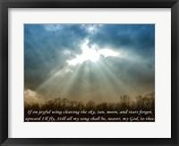 Framed Nearer God To Thee