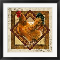 Framed Mother Hen