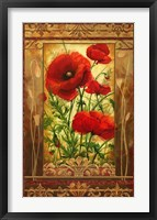 Poppy Field I In Frame Framed Print