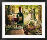 Framed Wine By The Window II