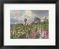 Framed Picking Daisies