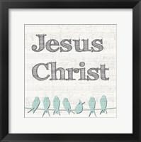 Framed Jesus Christ Birds