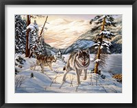 Framed Winter Hunt