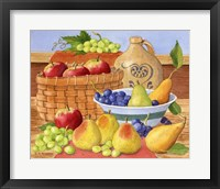 Framed Apples, Grapes & Pears