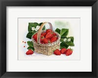 Framed Basket Of Strawberries