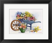 Framed Flower Cart