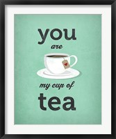 You Are My Cup of Tea (teal) Framed Print