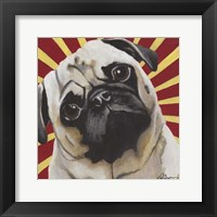 Framed Dlynn's Dogs - Puggins