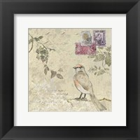 Framed Bird & Postage II