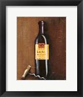 Framed Rustic Wine I