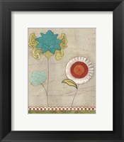Petal Patterns I Framed Print