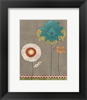 Petal Patterns IX Framed Print