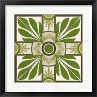 Non-Embellished Palm Motif I Framed Print