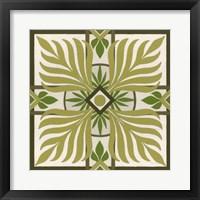 Non-Embellished Palm Motif II Framed Print