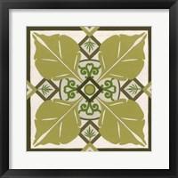 Non-Embellished Palm Motif III Framed Print