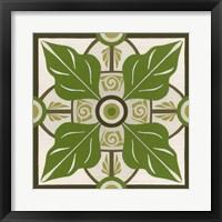 Non-Embellished Palm Motif IV Framed Print