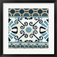 Non-Embellished Indigo Frieze III Framed Print