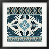 Non-Embellished Indigo Frieze IV Framed Print