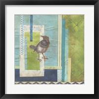 Avian Scrapbook I Framed Print