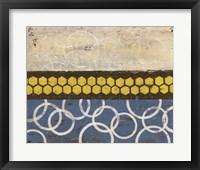 Honey Comb Abstract I Framed Print