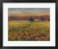 Framed Poppy Path to Home I