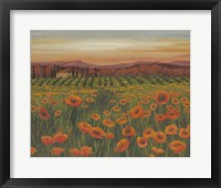 Framed Poppy Path to Home II
