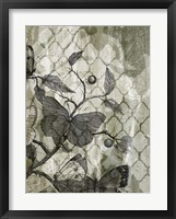 Arabesque Butterflies I Framed Print