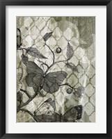Arabesque Butterflies I Framed Print