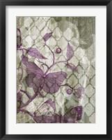 Arabesque Butterflies III Framed Print
