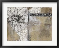 Collage Fleur I Framed Print